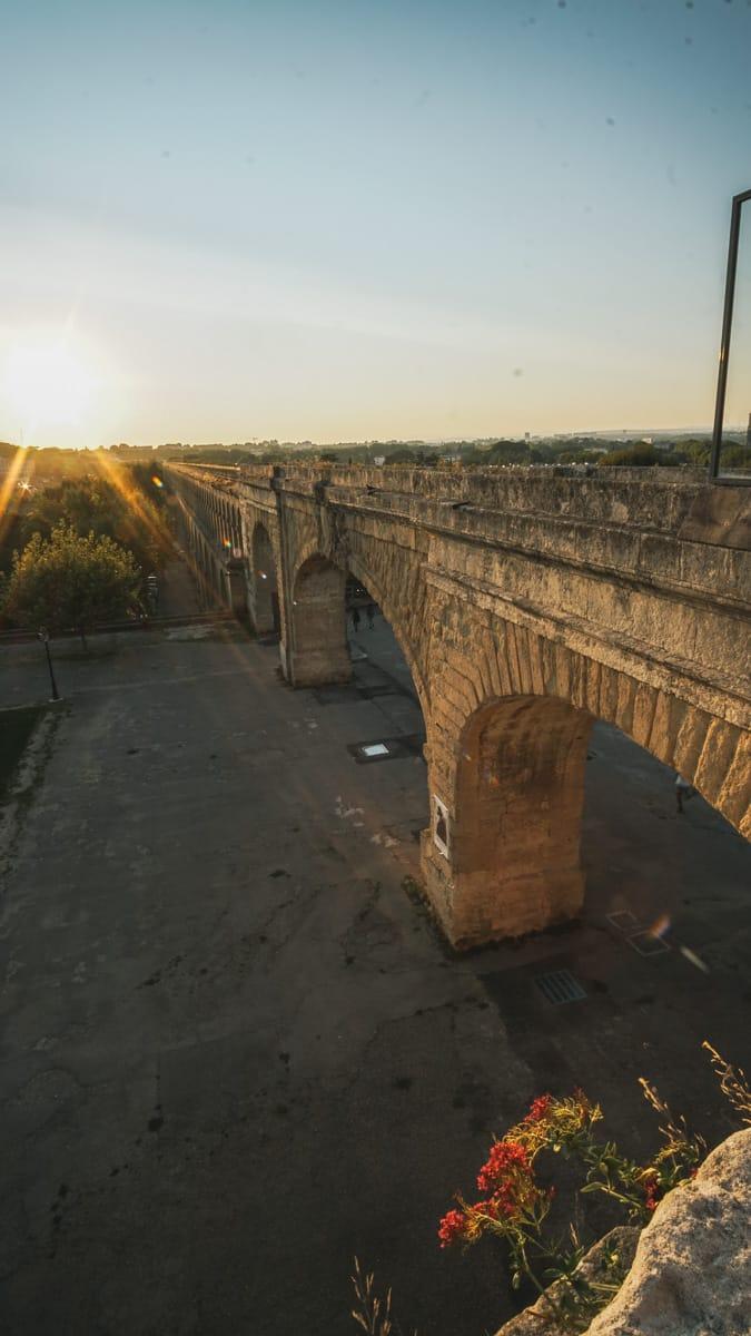 aqueduc montpellier sunset