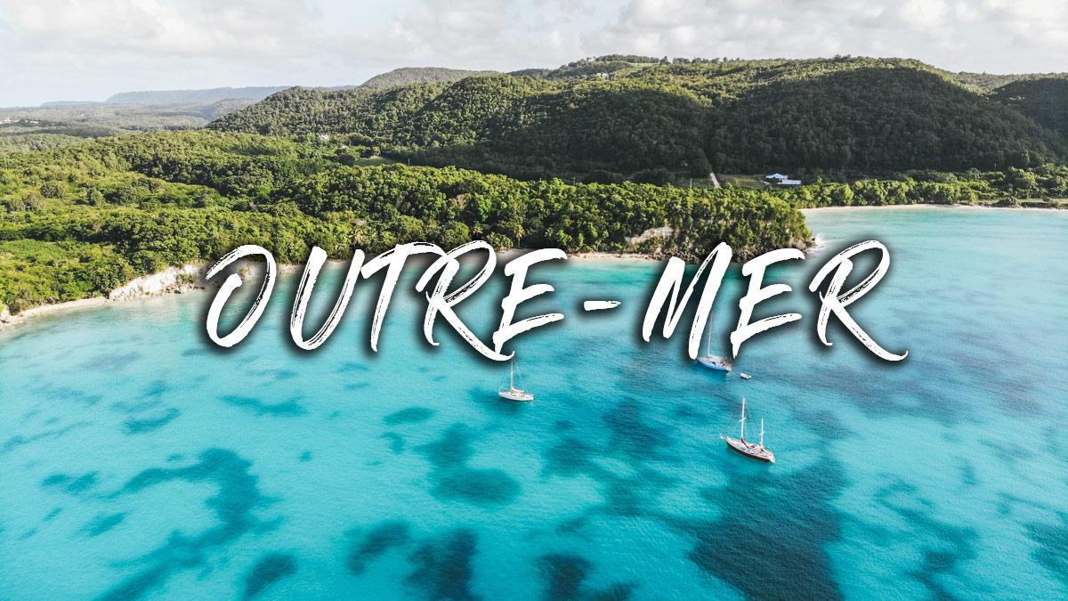 guadeloupe vue ocean drone
