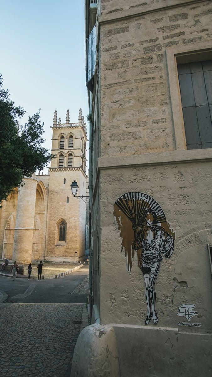cathédrale montpellier dessin