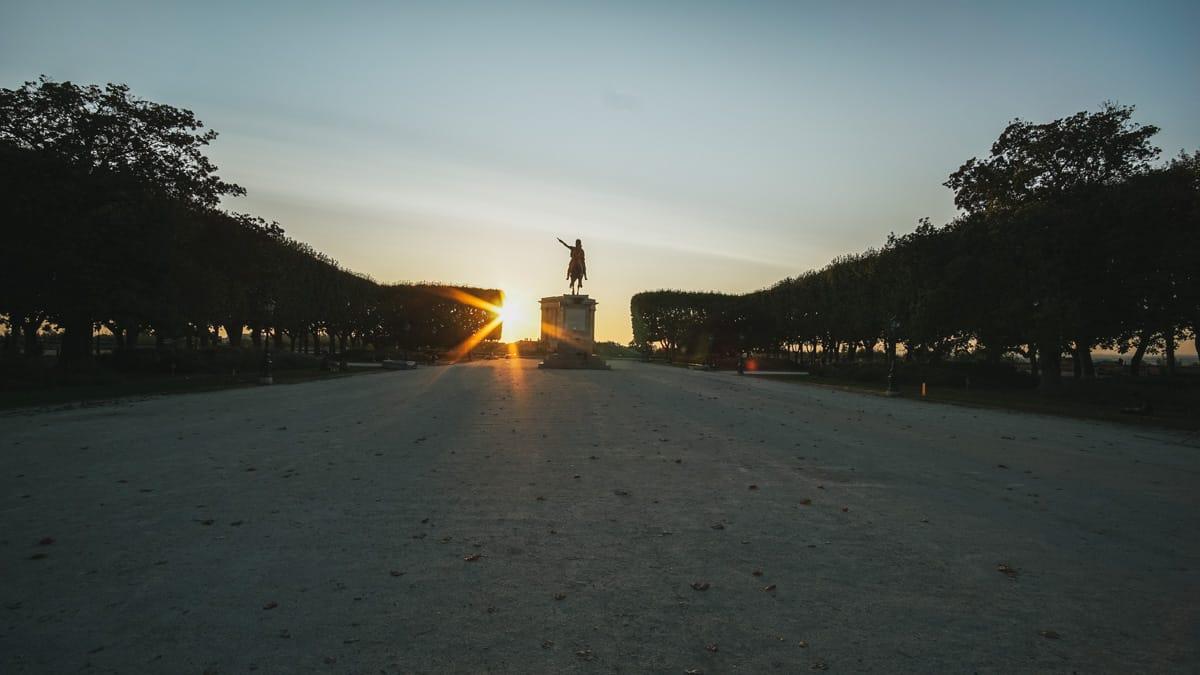 peyrou sunset montpellier