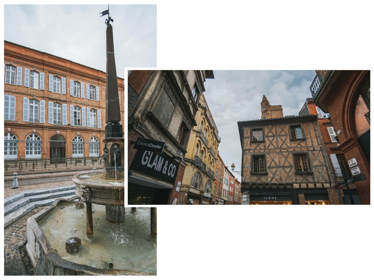 rues fontaine maisons toulouse