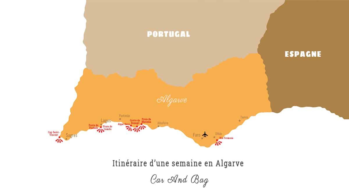 carte algarve portugal