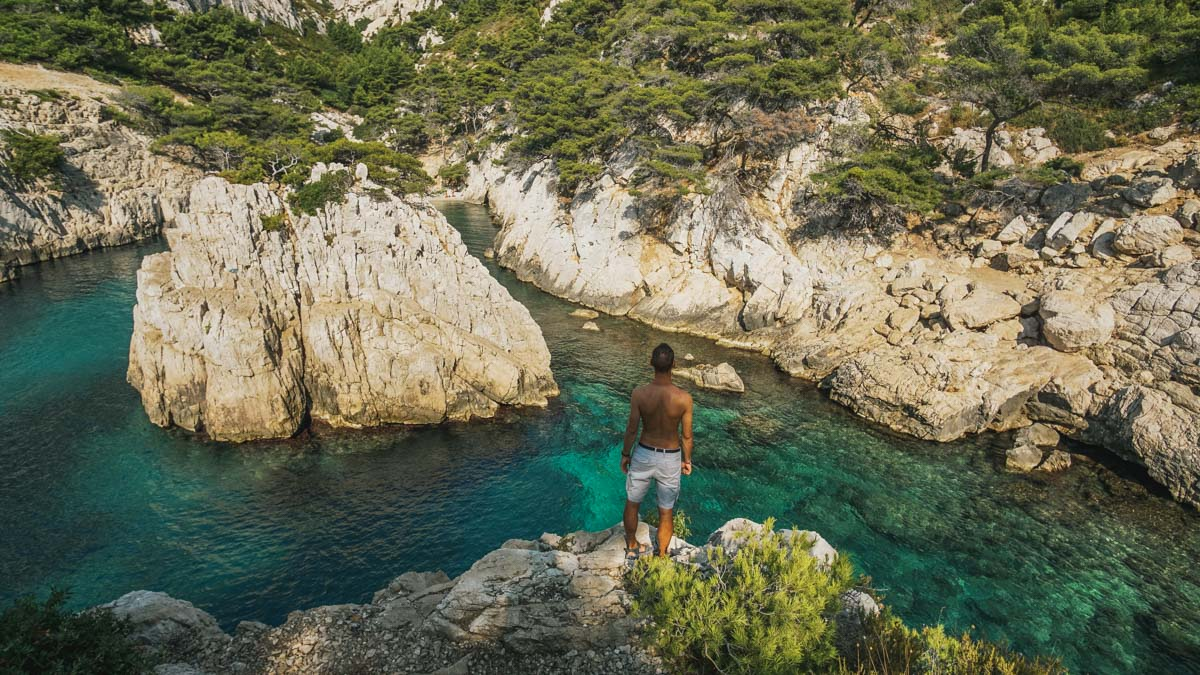 calanque andy mer