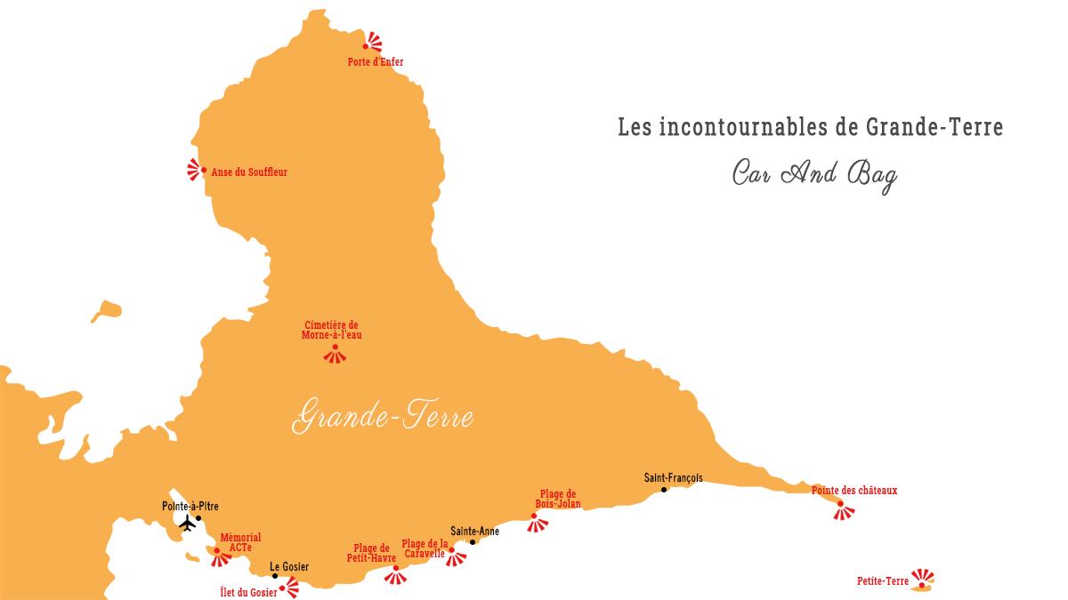 carte grande terre guadeloupe