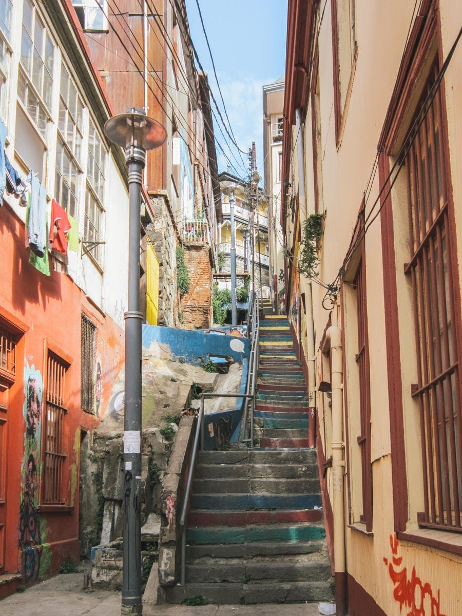 escaliers valparaiso