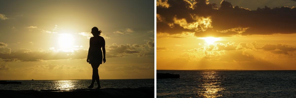 sunset plage holbox