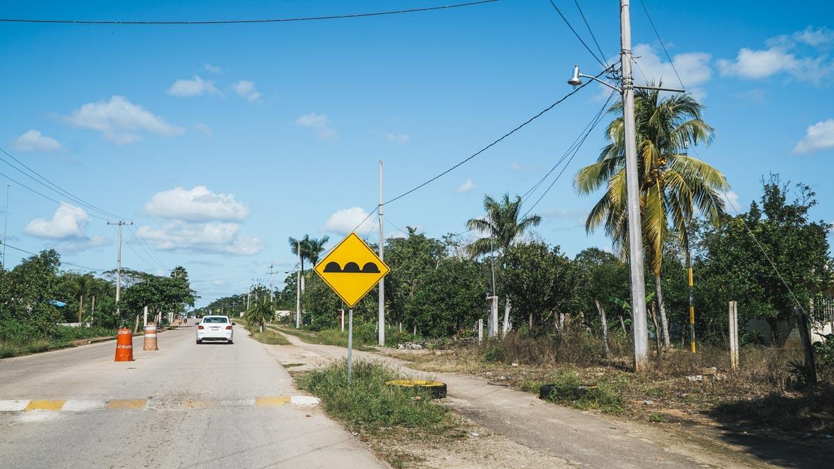 topes route mexique