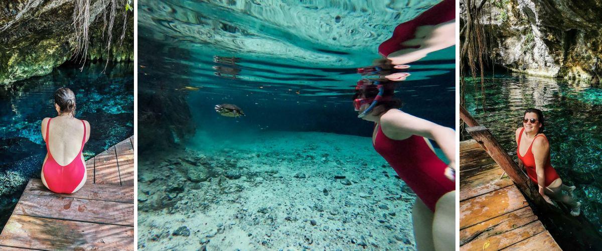 cenote tulum tortue