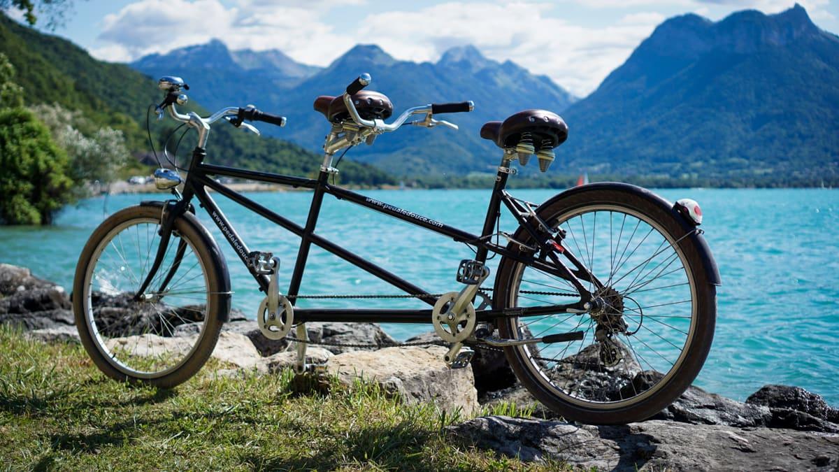 vélo lac